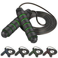 Weighted Skipping Jump Rope Adjustable MMA Boxing Fitness Weight Loss Training.