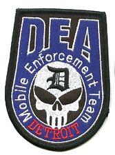 DEA MOBILE ENFORCEMENT TEAM DETROIT DEA SKULL DEA PATCH