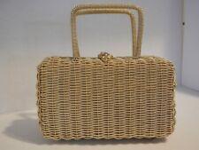 Vintage 1950's Gold Metal Basket Style Purse W/Handles