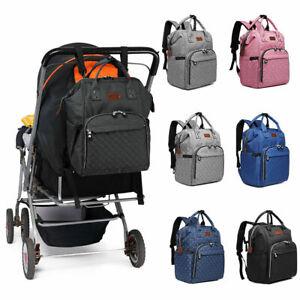 UK Waterproof Baby Diaper Nappy Mummy Backpack Multi-functional Changing Bag
