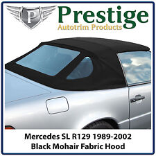Mercedes SL R129 Car Hood Hoods Soft Top Tops Roof Black Mohair 1989-2002