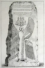 Re Isfahan perse Persia Cuneiform zeppa font 1841 bas-relief mourgab Iran