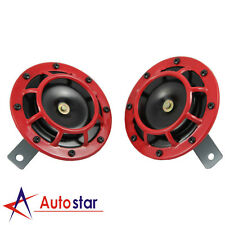 2 Pcs Dual Tone Red Grille 139DB Mount Super Loud Car Speakers Horns For Holden