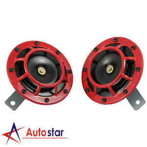92 Pcs Dual Tone Red Grille 139DB Mount Super Loud Car Speakers Horns For Holden