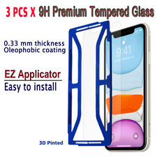3pcs x Tempered Glass Screen protector with EZ Applicator for iPhone 11 i11G3
