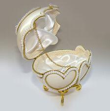 Les coeurs Boîte à bijoux oeuf en coquille style Faberge, Oeuf écrin à bijoux