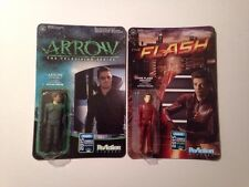 SDCC 2015 Exclusive Arrow & The Flash Funko Reaction Figures MOC DC Comics