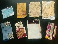Junk Journal Collage Scrap Vintage Recycle Fabric Pockets Scrapbook Snippet NICE