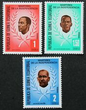 "Äquatorialguinea: Michel-Nr. 1603-1605 ""Unabhängigkeitskämpfer"" 1979, postfr."