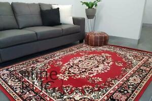 RED FLOOR RUG TRADITIONAL PERSIAN STYLE CARPET XX LARGE - 240 x 320 CM