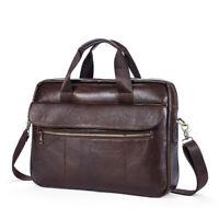 Herren Aktentasche aus Leder Business Handtasche Messenger Laptop Schultertasche