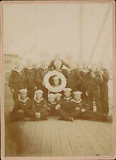 Kaiserlische  Marine  1. I. WERFT  DIVISION  S.M. HULK  EISABEHT  Original Fotos