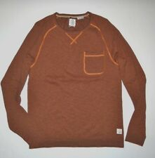 New Volcom Mens Stand Not Long Sleeve Light Weight Knit Sweater Shirt Medium