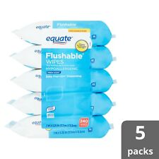 Equate Fresh Scent Flushable Wipes - 5 Packs of 48 wipes*FAST SHIPPING*