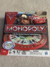 Disney Cars 2 Monopoly Game with Round Lightning McQueen Racetrack Board Parts