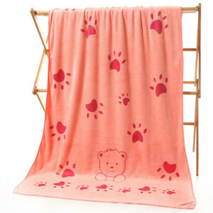 Extra Large Bath Towel Soft Coral Fleece Luxury Bath Sheet Jumbo Absorbent Towel