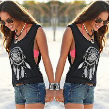 Fashion Women Summer Vest Top Sleeveless Shirt Blouse Casual Tank Tops T-Shirt M