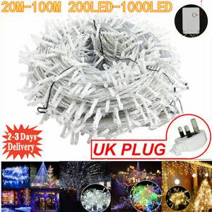 ✅Mains Plug in String Fairy Lights 200-1000 LED Garden Outdoor Indoor Home Light