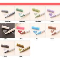 2Pcs Colorful Metallic Marker Felt Tip Pen Card Making Craft Scrapbook NE iikk