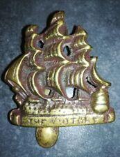 Messing Guss Türklopfer Segelschiff  Neu 6 cm x 5 cm Klopfer für Tür