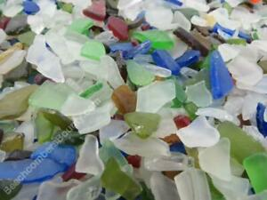 10 POUNDS 1/4 inch - 1/2 inch MACHINE MADE RECYCLED TUMBLED BEACH SEA GLASS
