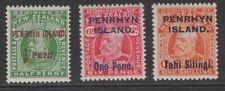 PENRHYN ISLAND SG19/23 1914-5 DEFINTIVE SET MNH
