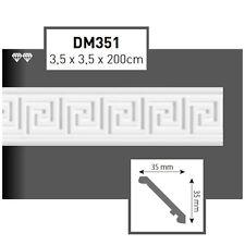 24 Meter Styroporleisten Zierprofile Stuckprofile Stuckleiste Dekor 35x35mm D351