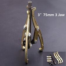 "3"" 75mm 3 Jaw Gear Puller Reversible Legs External/Internal Pulling Repair Tool"