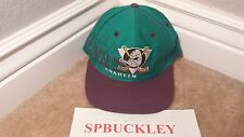 VINTAGE NHL MIGHTY DUCKS OF ANAHEIM SNAPBACK HAT, THE GAME