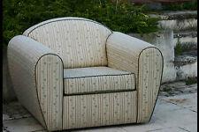 Paire de fauteuil club, tissu / pair of club chair