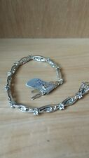 Designer Sterling Silver and Cut-stone Bracelet from Paul Kennedy. New in Box