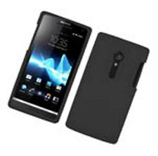 For Sony Xperia Ion Rubber Silicone Skin Case Phone Cover Black