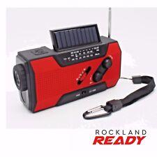 Emergency Weather Radio AM/FM/NOAA Hand Crank Solar Flashlight - Rockland Ready