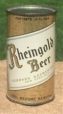 *Early Instructional* Ultra Rare Rheingold OI Flat Top Beer Can-USBC# 123-32