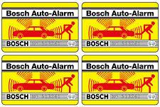 4x Bosch Auto Alarm Aufkleber – Alarmanlage Diebstahlschutz Scheibenaufkleber