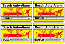 4x Bosch voiture alarme autocollant – Alarme antivol protection vitres autocollants