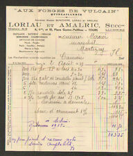 """TOURS (37) QUINCAILLERIE / AUX FORGES DE VULCAIN """"LORIAU & AMALRIC"""" en 1939"""