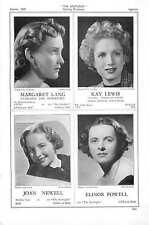 1939 Margaret Lang Kay Lewis Joan Newell Elinor Powell