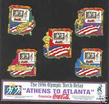 1996 ATLANTA SUMMER OLYMPIC TORCH RUN TRANSPORT PIN SET
