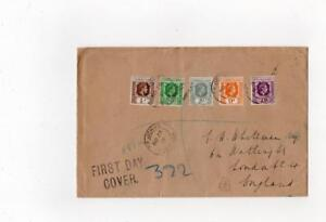 LEEWARD ISLANDS: 1938 Registered First Day cover ST JOHNS ANTIGUA pmks (C37217)