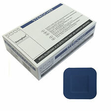 1 Box of Steroplast Sterochef Blue Catering Kitchen Chef Sterile Square Plasters