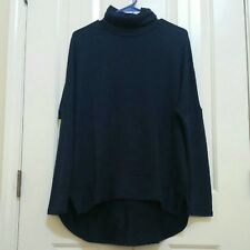 Navy Ransom Turtleneck Blouse size small long sleeve