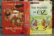 THE WIZARD OF OZ & THE JUNGLE BOOK (1963) Illustrated G&D Flip Book HC