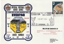 2 OCTOBER 1984 EVERTON v UC DUBLIN CUP WINNERS CUP DAWN FOOTBALL COVER