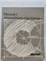 BOOK MICROSOFT C ADVANCED PROGRAMMING TECHNIQUES MICROSOFT CORPORATION