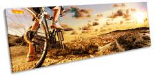 Mountain Bike Extreme Sports Print PANORAMA CANVAS WALL ART Picture Orange