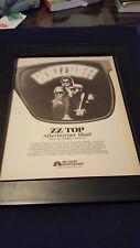 Zz Top Rare Original Afterburner Nbc Radio Special Promo Poster Ad Framed!