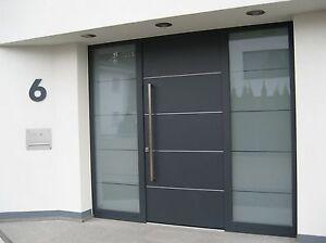 Hausnummer Anthrazit RAL 7016 Zahl 20 cm hoch Türschild Haustürschild 0-9 a-h