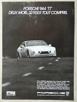 PUBLICITÉ DE PRESSE 1983 PORSCHE 944 TT