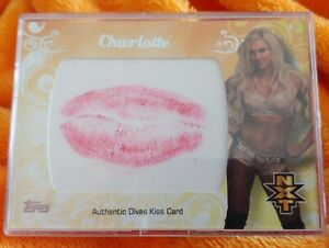 2016 Topps WWE Divas Kiss Card Charlotte Flair RARE Non Auto FIRST NXT RC 82/99